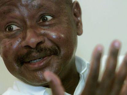 El presidente de Uganda, Yoweri Museveni, en Kampala, el 11 de marzo de 2011.