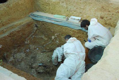 El equipo de excavación de la fosa 113 de Paterna.