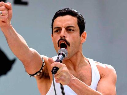 Rami Malek, en 'Bohemian Rhapsody'.