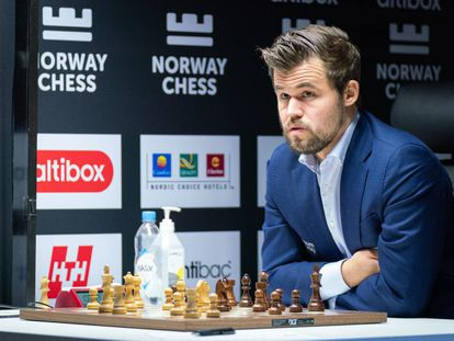 Magnus Carlsen, en Stavanger (Noruega), durante el torneo Norway Chess el pasado octubre