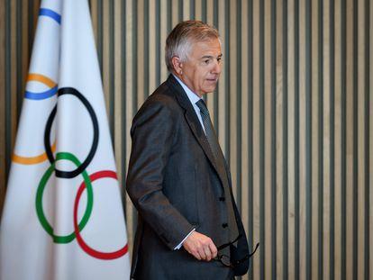 Juan Antonio Samaranch, en una reunión del COI en Lausana el 3 de marzo.