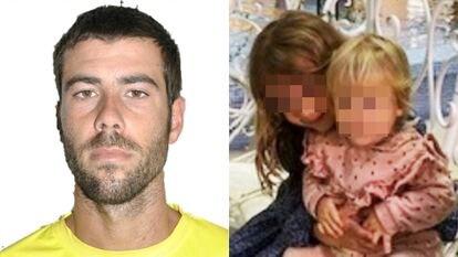 Tomás Antonio Giméno y sus hijas Anna y Olivia. SOSDESAPARECIDOS 28/04/2021