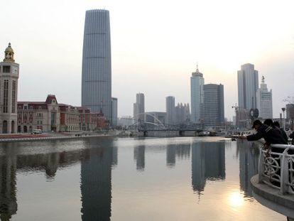 Hai River en Tianjin, China.