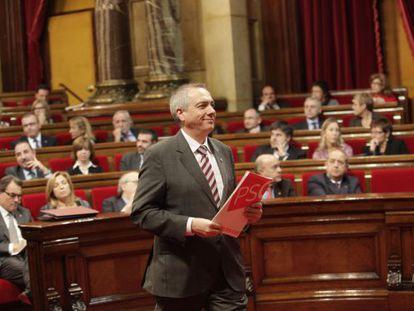 Pere Navarro, ayer en el Parlament.