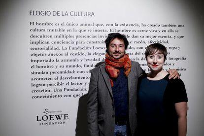 Antonio Lucas, ganador del Loewe de Poesía, junto con Elena Medel, Premio de Creación Joven.