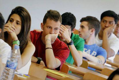 Pruebas de Selectividad en la Universidad Autonoma de Barcelona (UAB).