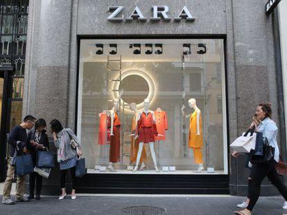 Un tienda de Zara en Niza, Francia