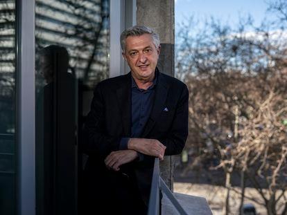 Filippo Grandi, alto comisionado de Acnur, fotografiado el sábado en la sede del organismo en Madrid.