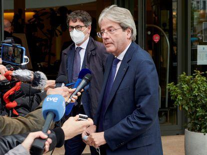 El comisario europeo de Economía, Paolo Gentiloni, en Bruselas el pasado lunes.
