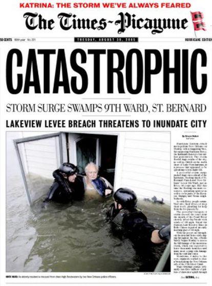 Fragmento de la portada del 30 de agosto.