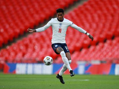 Rashford, con Inglaterra ante Bélgica en Wembley el pasado miércoles.