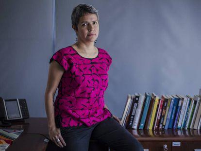 Karla Quintana, en su oficina en Ciudad de México.