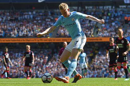 Kevin De Bruyne, durante un partido con el Manchester City.