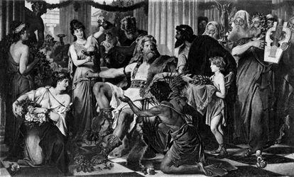 El caudillo visigodo Alarico I, aquí pintado por Ludwig Thiersch, murió de malaria poco después de saquear Roma.