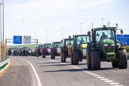 The main agricultural associations, in a protest against the CAP last March.