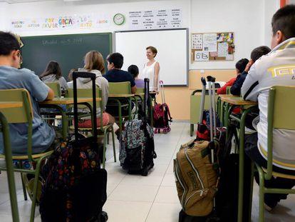 Alumnos de un centro público de Castilla y León.