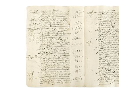 Documento de pago de 1638 a Ana Caro por escribir la crónica de la boda de un primo de Felipe IV.