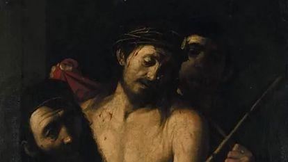 'Ecce homo' atribuido a Caravaggio y retirado de la subasta de la Casa Ansorena de Madrid.