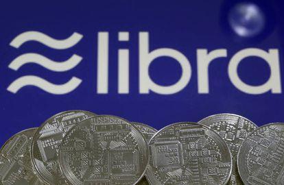 Representación de la moneda Libra y su logo.