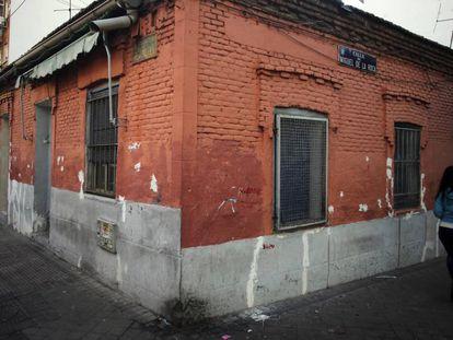 La casa fotografiada por Robert Capa en Madrid.