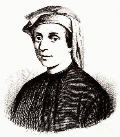 Leonardo de Pisa, más conocido como 'Fibonacci', en una imagen de 1850 de la obra 'Dall'opera I benefattori dell'umanità; vol. VI'.