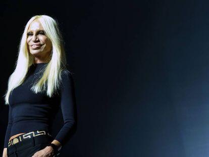 La diseñadora Donatella Versace.