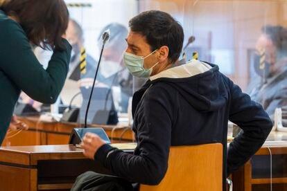 Lino Rodríguez, expresidente de Asaja en Valladolid, en una comparecencia de febrero en los juzgados.
