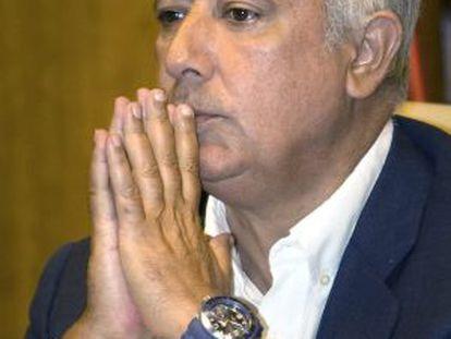 El presidente del PP-A, Javier Arenas.