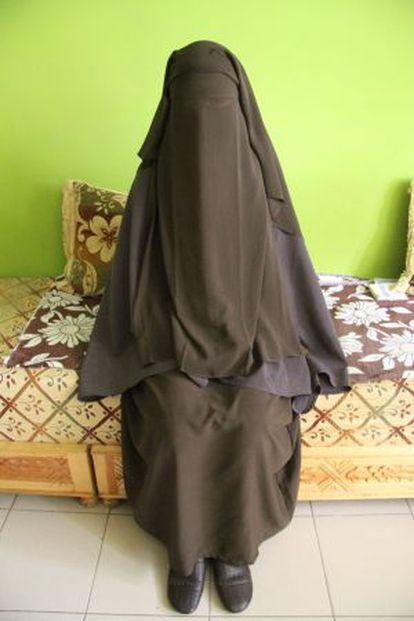 Chadia, la primera menor española que pidió ir al colegio con 'niqab'.