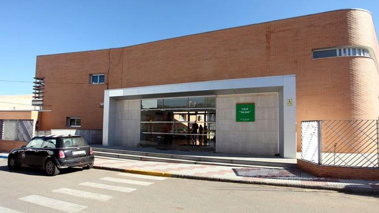 El colegio San José de Calamonte (Badajoz), en cuarentena por un brote de coronavirus, este viernes.