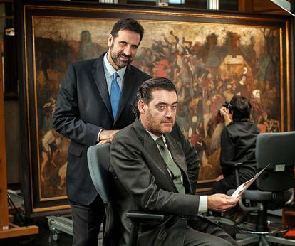 Finaldi, retratado en 2012 junto al director, Miguel Zugaza.