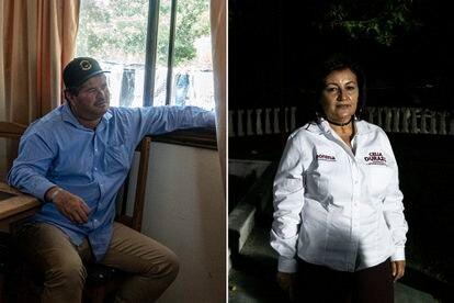 Los candidatos a la presidencia municipal de Bavispe, Adan Langford y Celia Durazo.