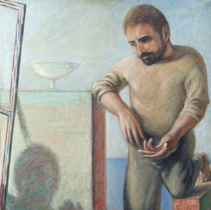 'Juan en Patmos' (1973), de Guillermo Pérez Villalta. Colección Pablo Sycet