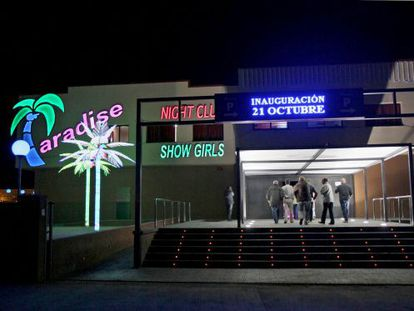 El prostíbulo Paradise, el día de su inauguración en 2010.