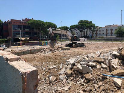 Aspecto del solar en el que se erigía el club Riviera, en Castelldefels. / ROBERTA BOSCO