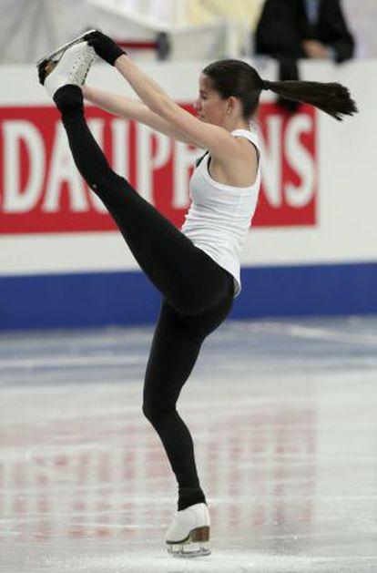 Sonia Lafuente en un entrenamiento en Saitama (Japón).