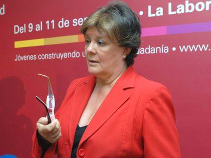 Enriqueta Chicano, nueva presidenta del Tribunal de Cuentas, en una imagen de 2010.
