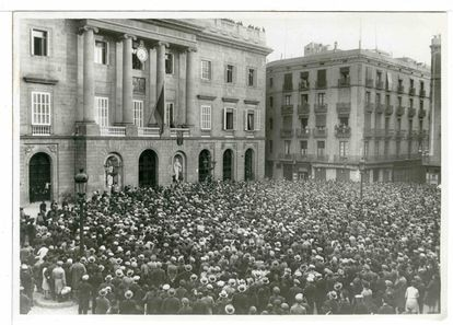 Proclamación de la República en Barcelona.