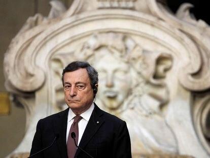 El primer ministro italiano, Mario Draghi, en una conferencia de prensa en Roma el 31 de mayo.
