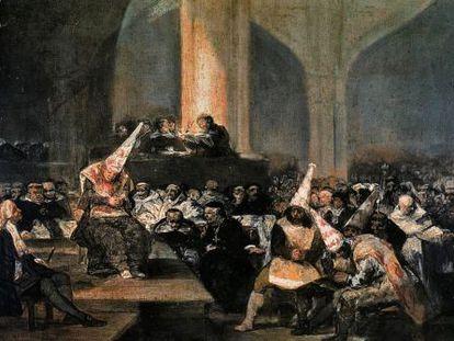 'Auto de fe de la Inquisición', óleo de Francisco de Goya.