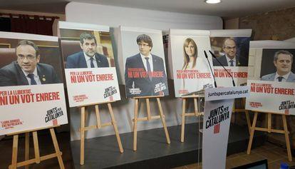 Carteles de campaña de Junts per Catalunya para las generales del 10-N.