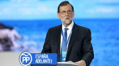 Mariano Rajoy en el congreso nacional del PP.