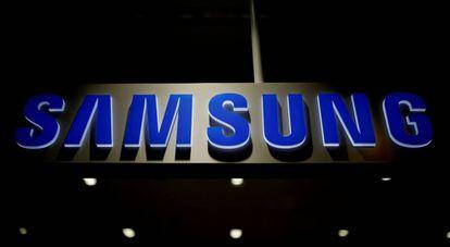 Logo de Samsung en Seúl.