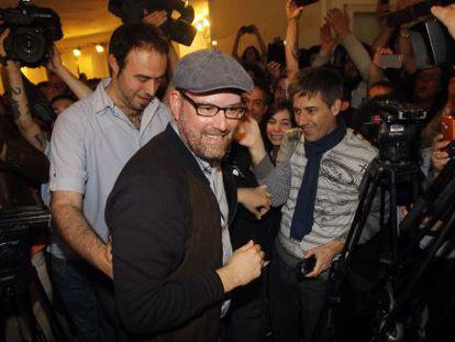 Martiño Noriego, triunfador de las elecciones en Santiago