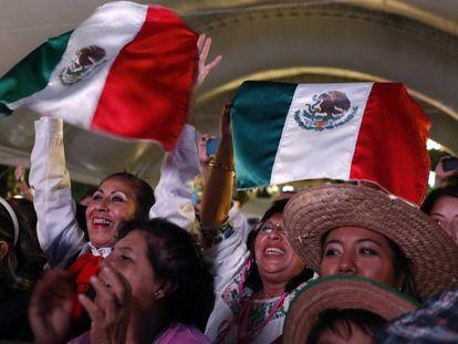 Celebración del grito de independencia en Puebla.