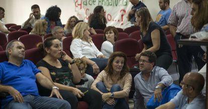 Empleados de la Escuela de Hostelería La Laguna, en un encierro.