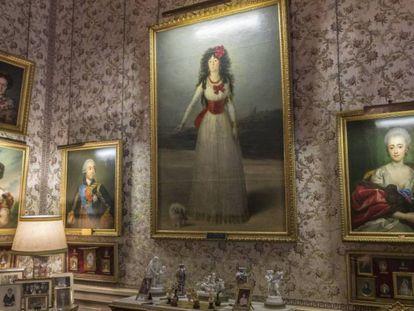 La sala de Goya del palacio de Liria. En vídeo, cita en el palacio con el duque de Alba, un reportaje de EL PAÍS Semanal.