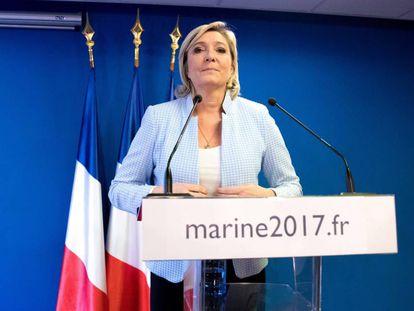 La líder del Frente Nacional (FN) francés, Marine Le Pen, comparece este miércoles para valorar la victoria de Trump.