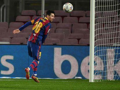 Messi, en el último duelo ante el Levante.