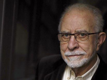 José María Merino, ganador del Premio CEDRO 2021 por su defensa de la cultura y los derechos de autor, el 24 de abril.